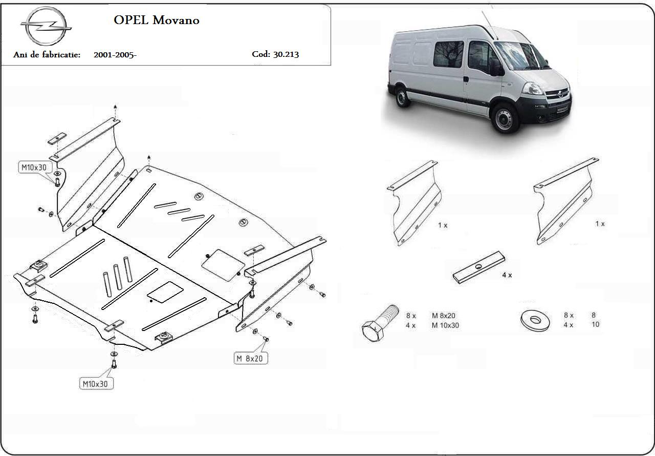 Scut motor Opel Movano toate an 2005