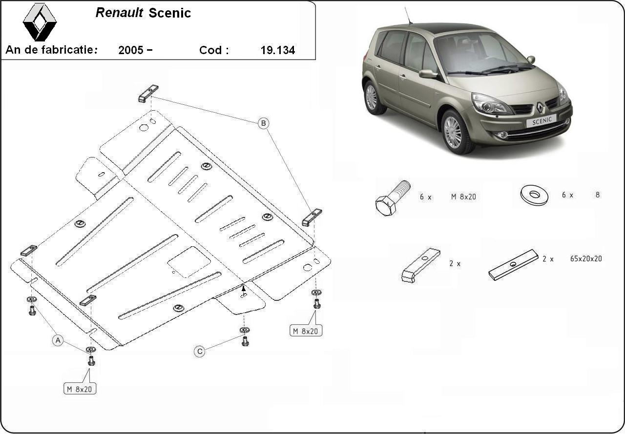 Scut motor Renault Scenic an 2004 cu exceptia modelelor disel