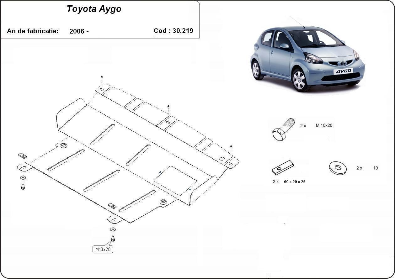 Scut motor Toyota Aygo toate an 2006